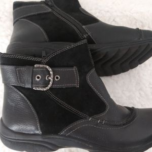 BLACKEATHER AND SUEDE BOOTIES